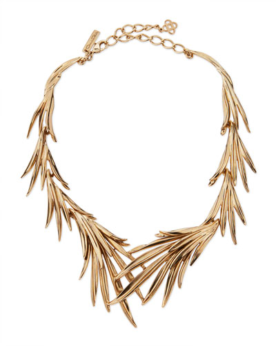 Palm Leaf Statement Necklace