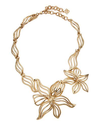 Graphic Lily Statement Necklace