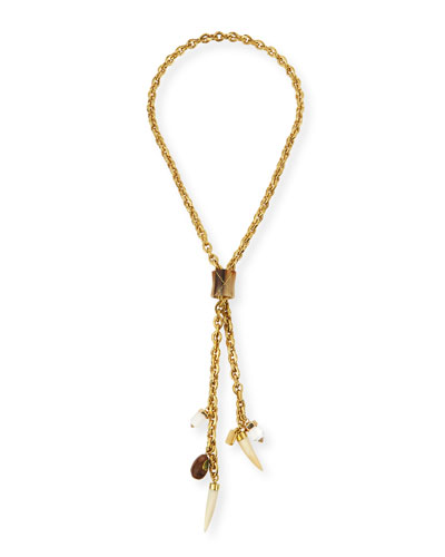 Sanduku Bronze Lariat Necklace