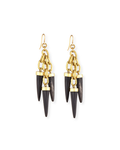 Shina Dark Horn Earrings