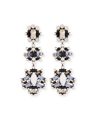 Karlotta Crystal Statement Earrings, Multi