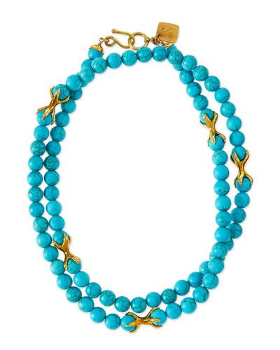 Roho Turquoise Bead Necklace