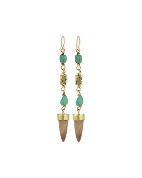 Ashley Pittman Uti Light Horn & Turquoise Drop