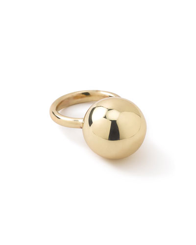 18K Glamazon Ball Ring, Size 7