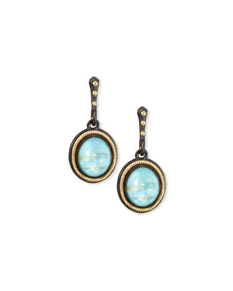 Armenta Old World Midnight Oval Doublet Drop Earrings