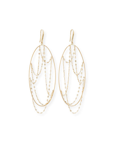 Large Oval Glimmer Earrings