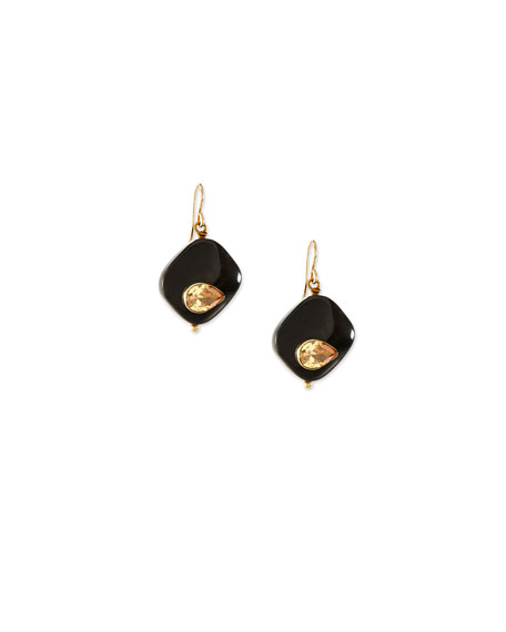 Sanamu Dark Horn Mini Drop Earrings