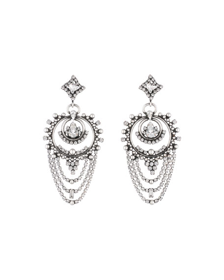 Dannijo Rosalie Crystal Statement Earrings