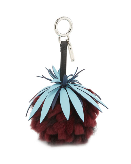 Fendi Ananas Mink Fruit Charm for Handbag