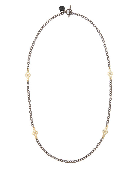 "Short Gold-Station Cable-Chain Necklace, 18""L"