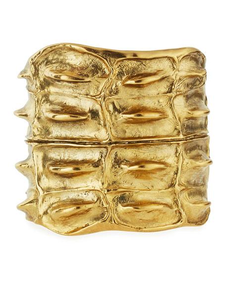 Opyum Croco Cuff Bracelet