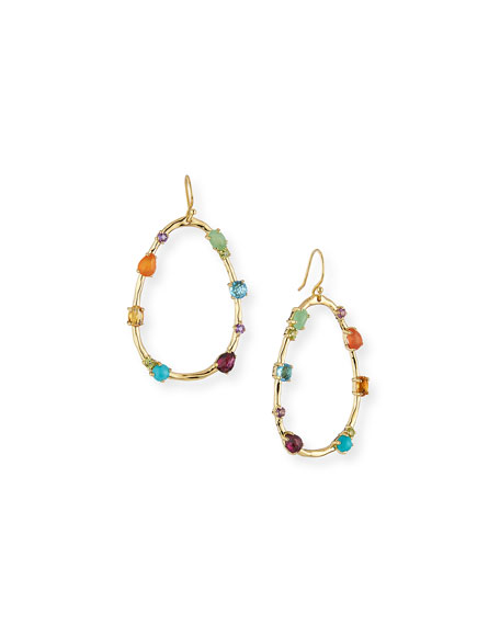 18k Rock Candy Large Multi-Stone Teardrop Earrings in