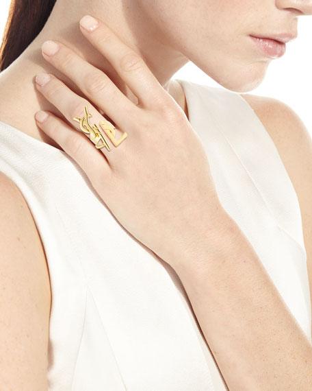 Deconstructed Monogram Golden Ring