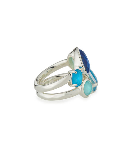 925 Rock Candy Multi-Stone Ring in Blue Star, Size 7