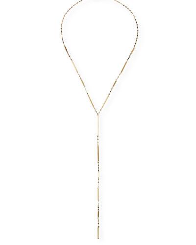 14K Gold Mega Dash Lariat Necklace