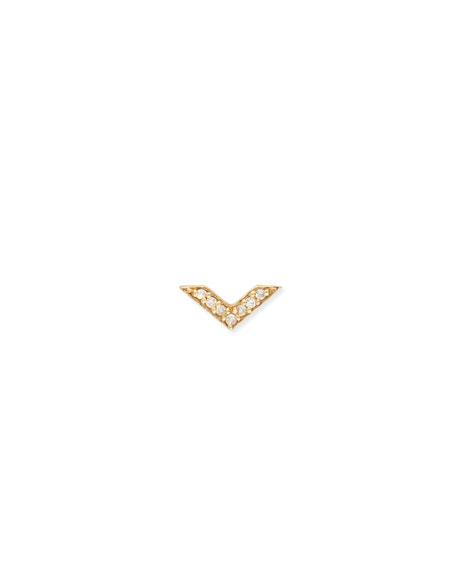 Sydney Evan Chevron Stud Earring with Diamonds knpQnHPKRH