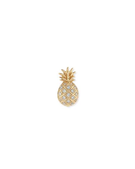 Pavé Diamond Pineapple Single Stud Earring