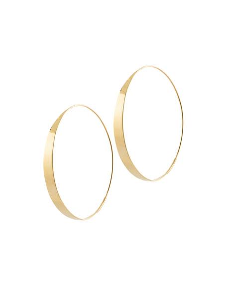 Large Flat Gloss Hoop Earrings