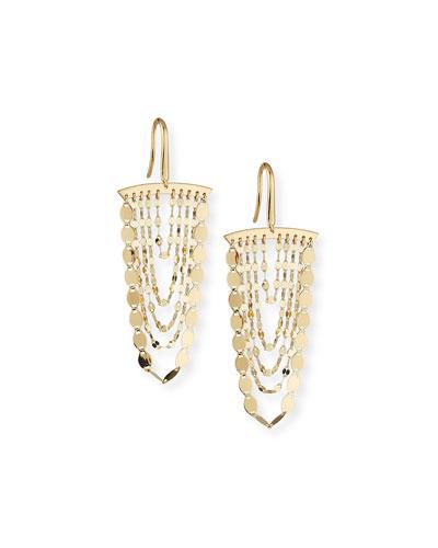 Small Nude Cascade Earrings
