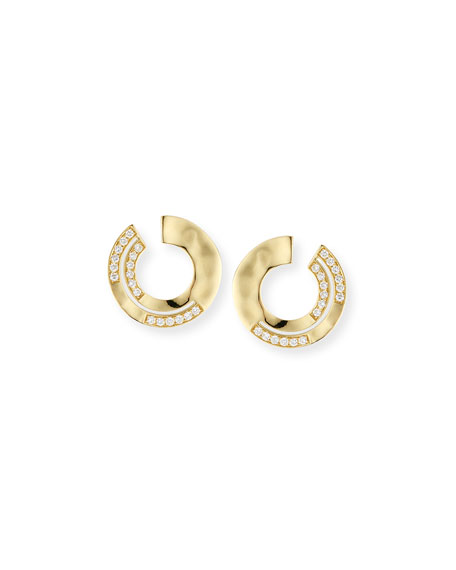18K Senso™ Staggered Diamond Small Earrings