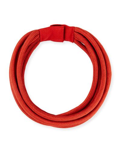 Multi-String Silk Cord  Red