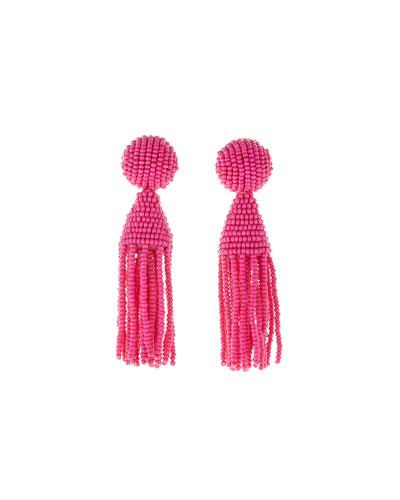 Classic Short Tassel Clip-On Earrings