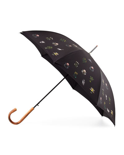 Small Medieval Floral Umbrella