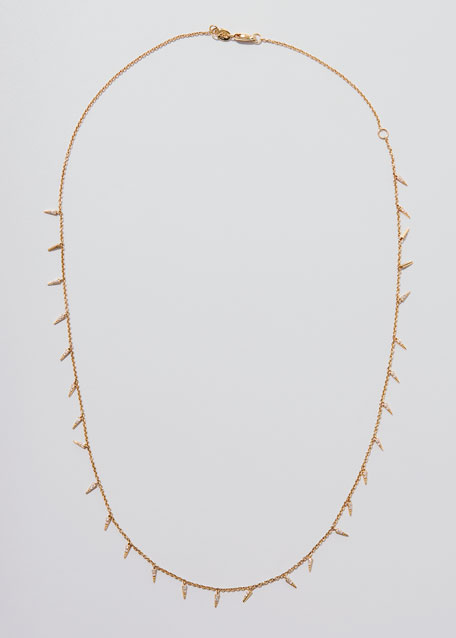 Pavé Diamond Fringe Drop Necklace