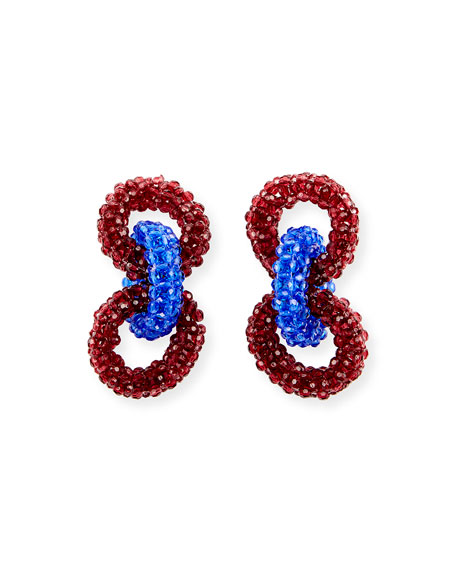 Beaded Three-Ring Earrings