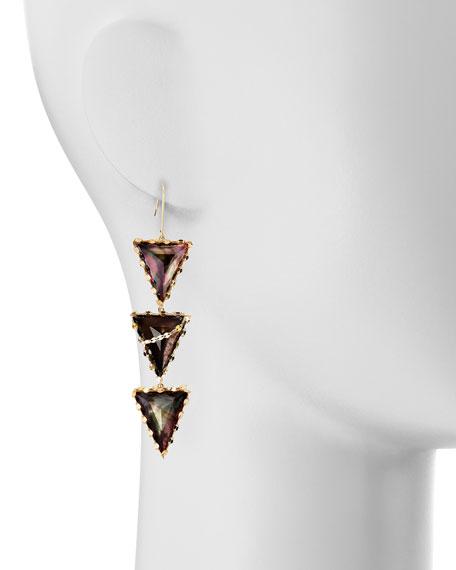 Mystiq Tri-Spike Earrings