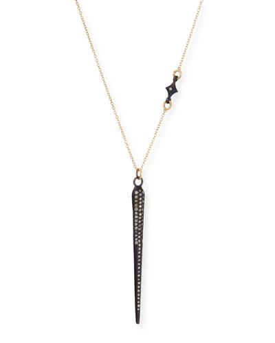 Old World Pavé Diamond Spike Necklace