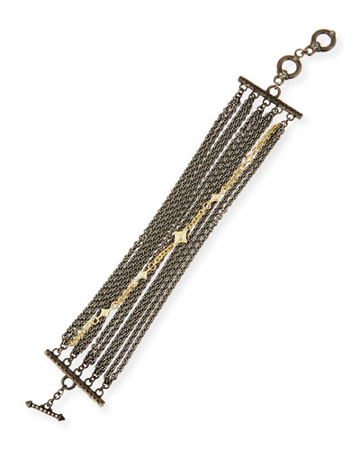 Old World Multi-Chain Bracelet with Diamonds
