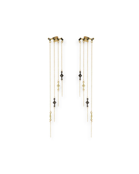 Armenta Old World Staggered Chandelier Earrings with Diamonds