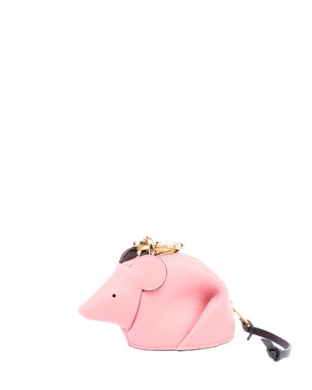 Mouse Pink Leather Coin Purse