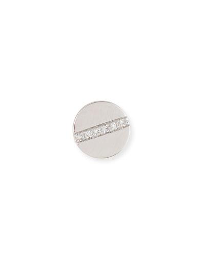 Diamond Screw Single Stud Earring