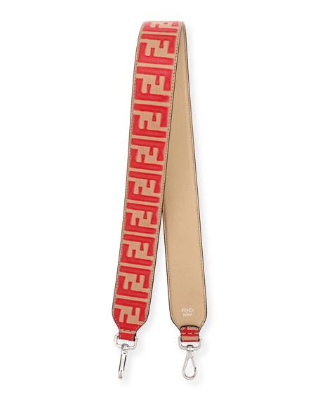 Fendi Strap You FF Leather Shoulder Strap ECQ8T