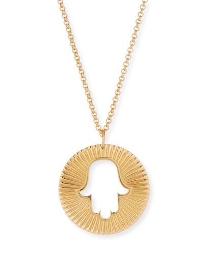 Iris Axel Hamsa Pendant Necklace