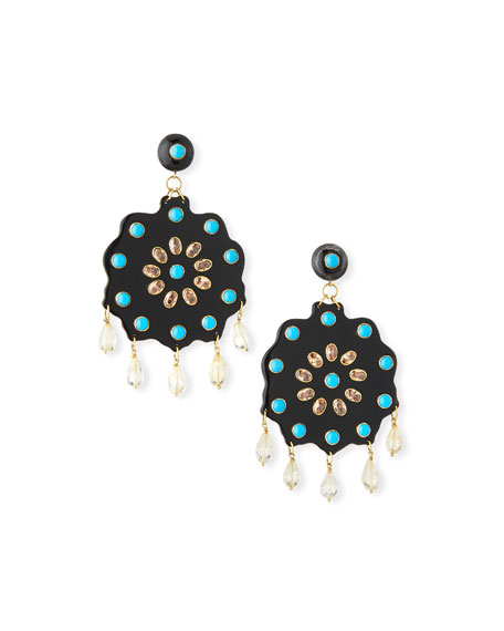Shauku Flower Drop Earrings