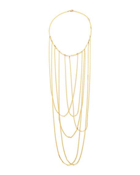 14k Big Stiletto Choker Chain Necklace