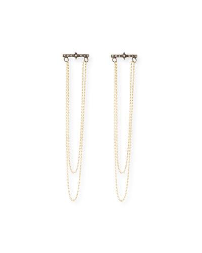 Old World 18k Chain Dangle Earrings