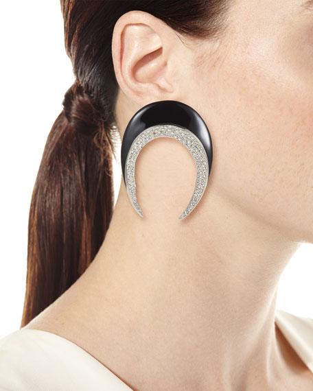 Smoking Horn Clip Earrings