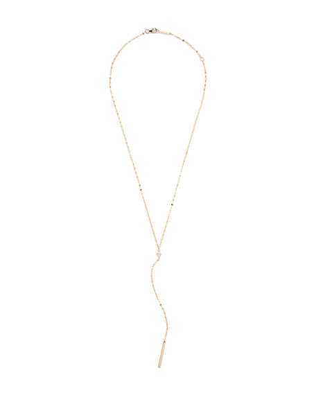 14k Gold Marquise Diamond Y-Drop Necklace