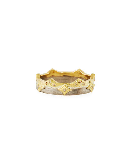 Old World Crivelli Wide Band Ring