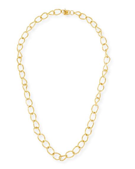 """Lightly Hammered Necklace, 36""""L"""