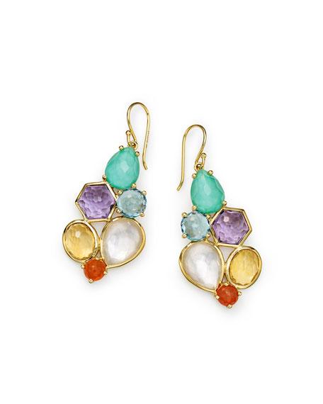 Rock Candy 6-Stone Cluster Earrings