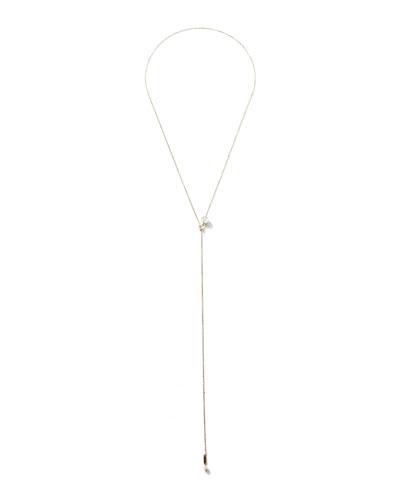 14k Gold Pearl Slider Necklace