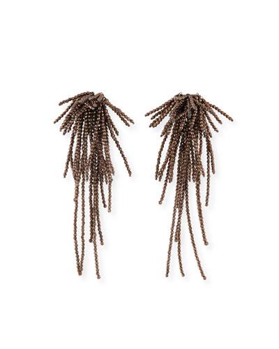 Firecracker Chandelier Hematite Earrings