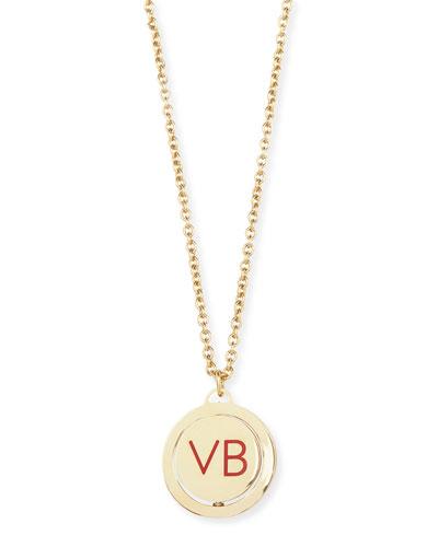 10th Anniversary VB Revolving Pendant Necklace