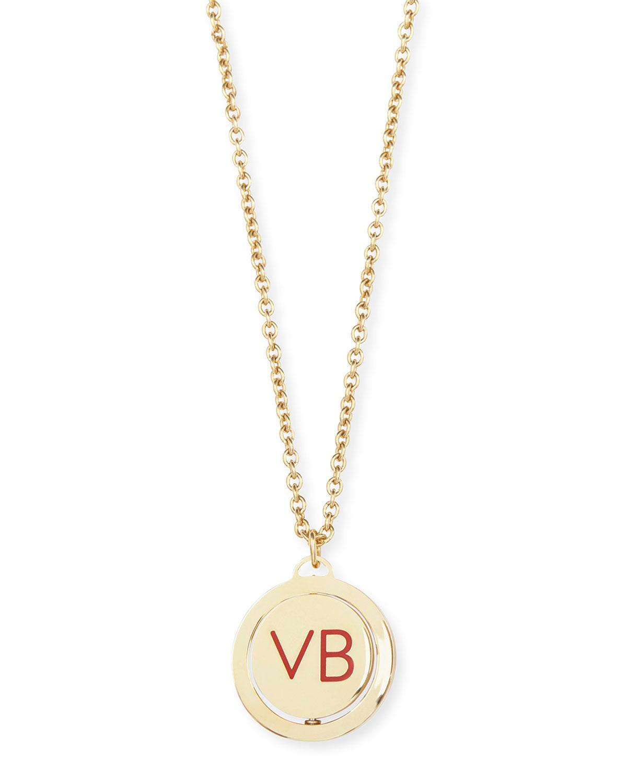 10th Anniversary Vb Revolving Pendant Necklace by Bergdorf Goodman