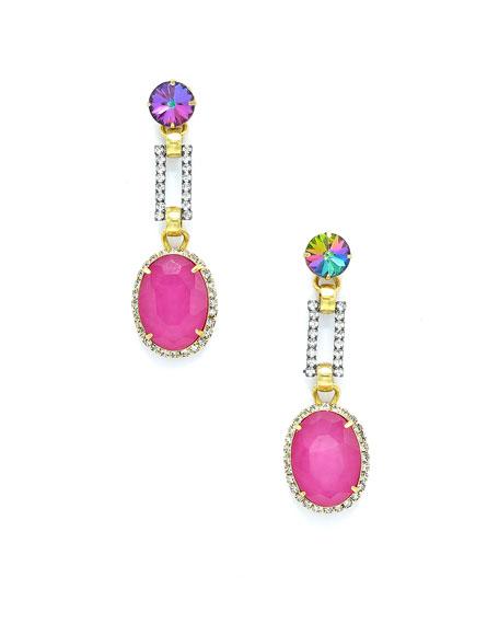 Larissa Crystal & Glass Drop Earrings